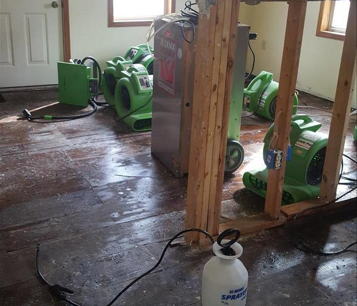 Flooded Home in Vassar, Michigan After
