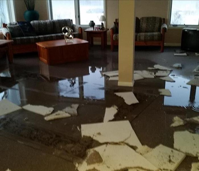 Water Damage SERVPRO of Huron, Sanilac & N. Tuscola Counties 24 hour fire and water damage restoration service.